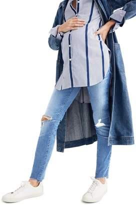 Madewell Maternity Knee Rip Skinny Jeans