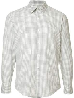 Cerruti micro check print shirt