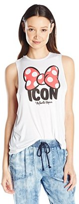 Disney Juniors Minnie Icon Spongy Graphic Muscle Tee $17.50 thestylecure.com