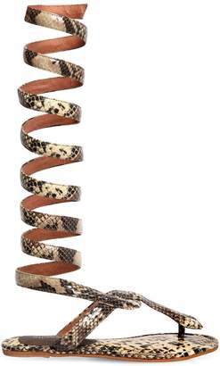 Jeffrey Campbell 10mm Snake Print Leather Sandals