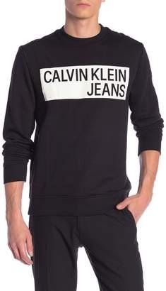 Calvin Klein Crew Neck Logo Pullover