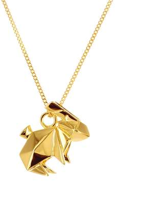 Origami Jewellery Mini Rabbit Necklace Gold