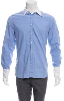 Miu Miu Woven Button-Up Shirt