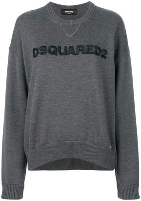 DSQUARED2 logo embroidered knitted jumper