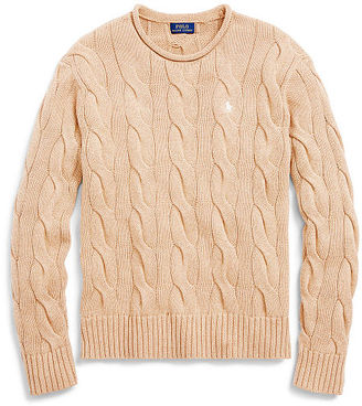 Polo Ralph Lauren Boxy Cable Cotton Sweater $98.50 thestylecure.com
