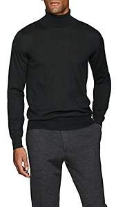 Brioni Men's Fine-Gauge Wool-Blend Turtleneck Sweater - Green