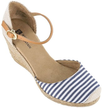 White Mountain Heritage by Espadrille Wedge Sandals - Mamba