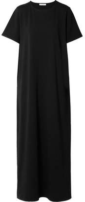 The Row Rory Cotton-jersey Maxi Dress - Black