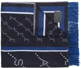 Stella McCartney monogram blanket scarf
