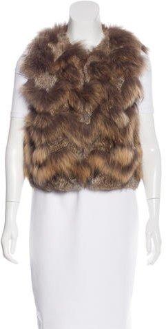 TheoryTheory Chevron Fur Vest