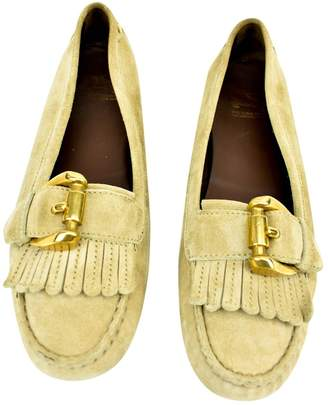 Burberry Beige Leather Ballet flats
