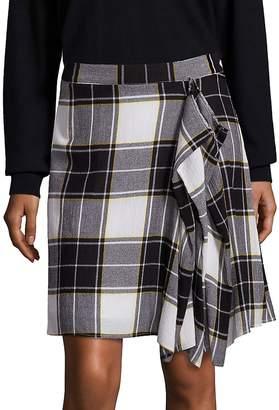Public School Women's Gina Draped Plaid Skirt