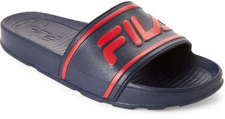 Fila Navy & Red Sleek Slide Sandals