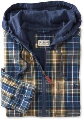 L.L. Bean L.L.Bean Scotch Plaid Flannel Shirt, Slightly Fitted Hooded Full-Zip