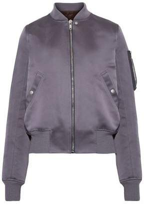 Rick Owens Duchesse Satin Bomber Jacket
