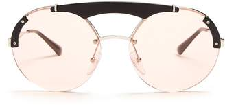 Prada Aviator metal sunglasses