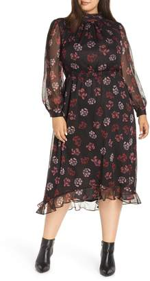 Vince Camuto Floral Midi Dress