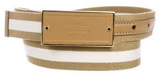 Gucci Web Buckle Belt