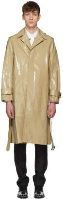 Calvin Klein Beige Plastic-Covered Trench Coat