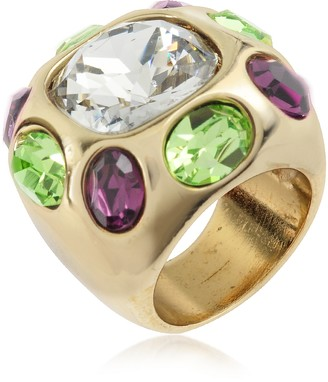 A-Z Collection Multicolor Crystal Ring
