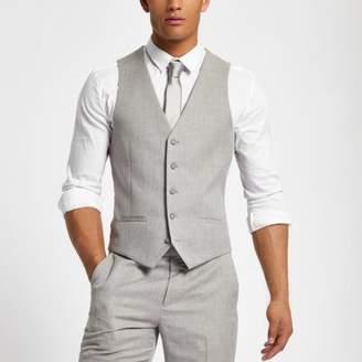 River Island Light grey suit vest