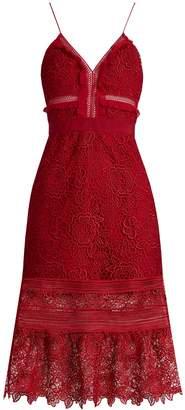 SELF-PORTRAIT Floral Blush guipure-lace midi dress $475 thestylecure.com