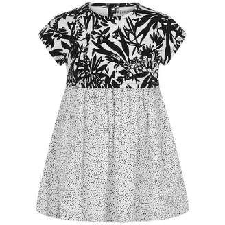 Ikks IKKSBaby Girls White & Black Print Dress