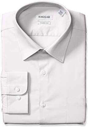 Haggar Dress Shirts Men's Classic Fit Performance Adjustable Collar Solid