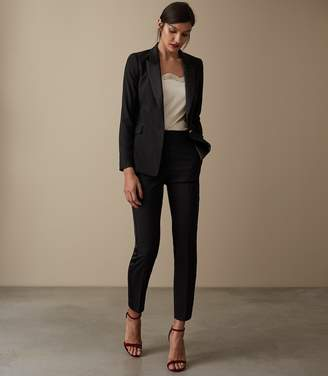 Reiss Our last order date for Christmas has now passed NAIYA TROUSERS TUXEDO TROUSERS Black