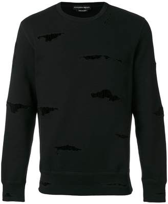 Alexander McQueen ripped detail sweatshirt
