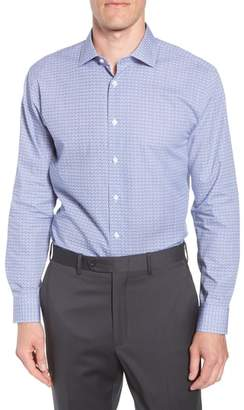 John W. Nordstrom R) Trim Fit Floral Dress Shirt