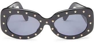 Chanel Black Acrylic Star Sunglasses