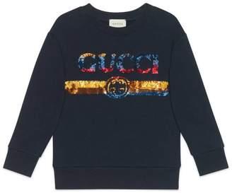 Gucci Children's sweatshirt with sequin logo