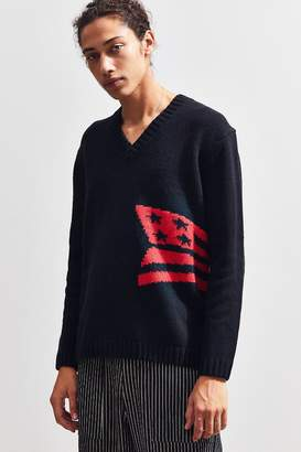 Calvin Klein Abstract Graphic V-Neck Sweater
