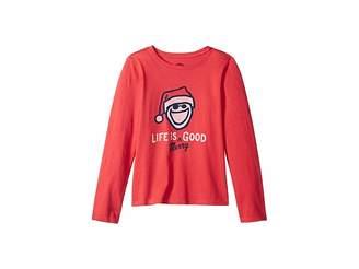 Life is Good Life is Merry Good Crusher T-Shirt Long Sleeve (Little Kids/Big Kids)