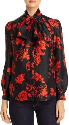 Tory Burch Paisley Silk Bow Blouse