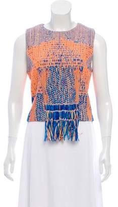 Camilla Sleeveless Tweed Top