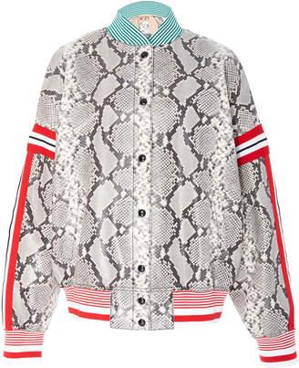 N°21 N 21 Mina Python Print Leather Jacket