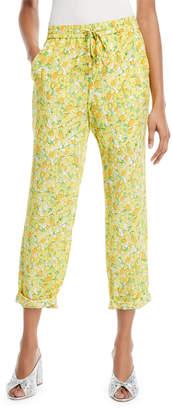 Moschino Lemon-Print Crop Pants