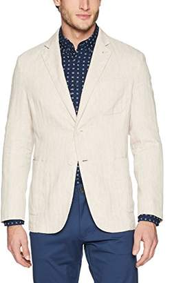 Bugatchi Men's Two Button Unconstructed Single Breasted Sand Blazer