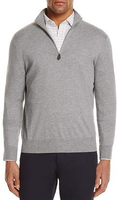 The Men's Store at Bloomingdale's Cotton Blend Half-Zip Sweater - 100% Exclusive $108 thestylecure.com