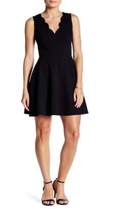 Love...Ady Scalloped V-Neck Mini Fit & Flare Dress