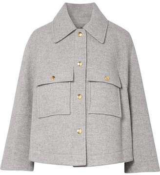 Chloé Oversized Wool-blend Jacket - Gray