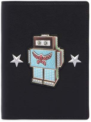 MCM ROBOTER LEATHER PASSPORT HOLDER