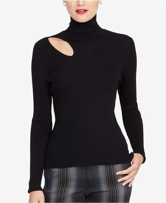 Rachel Roy Cutout Turtleneck Sweater