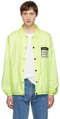 Maison Margiela Yellow Nylon Stereotype Coach Jacket