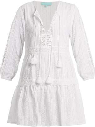 Melissa Odabash Reid V-neck embroidered cotton dress