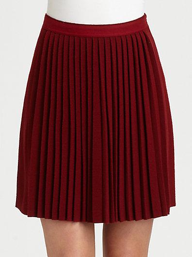 Sonia Rykiel Sonia by Mini Pleated Skirt