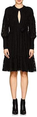 Proenza Schouler Women's Silk-Cotton Fil Coupé Keyhole Dress