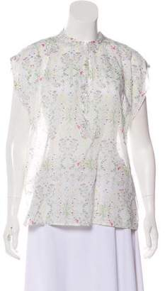 Closed Floral Sleeveless Top